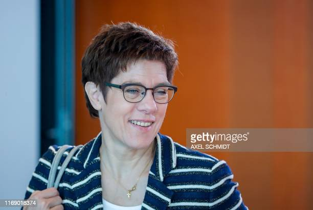 German Defence Minister Annegret Kramp-Karrenbauer arrives to attend the weekly cabinet meeting at the Chancellery in Berlin on September 18, 2019.