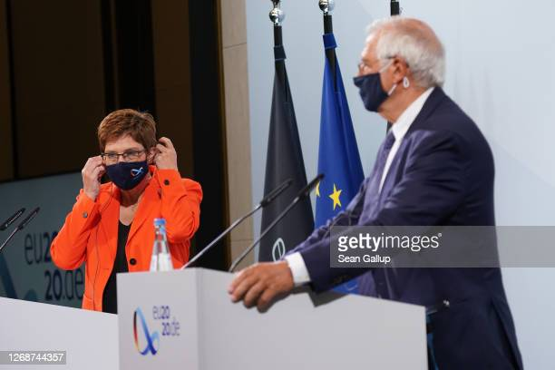 German Defence Minister AnnegretKramp Karrenbauer and Josep Borell High Representative of the European Union for Foreign Affairs and Security Policy...