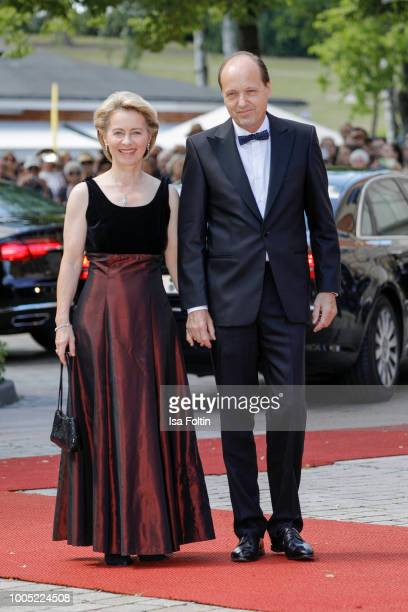 German Defence Minister Ursula von der Leyen and her husband Heiko von der Leyen during the opening ceremony of the Bayreuth Festival at Bayreuth...