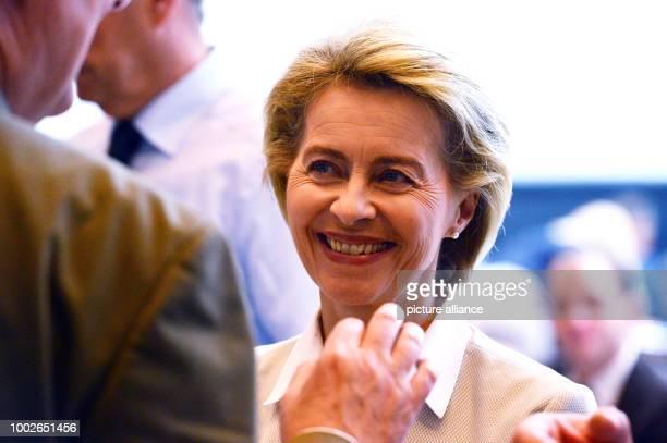 German Defence Minister Ursula von der Leyen attends the parliamentary meeting of CDU/CSU in Berlin Germany 16 May 2017 Photo Maurizio Gambarini/dpa