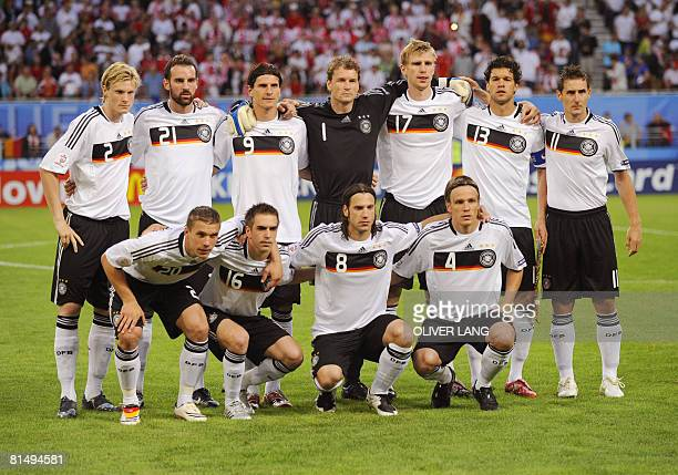 German defender Marcell Jansen German defender Christoph Metzelder German forward Mario Gomez German goalkeeper Jens Lehmann German defender Per...