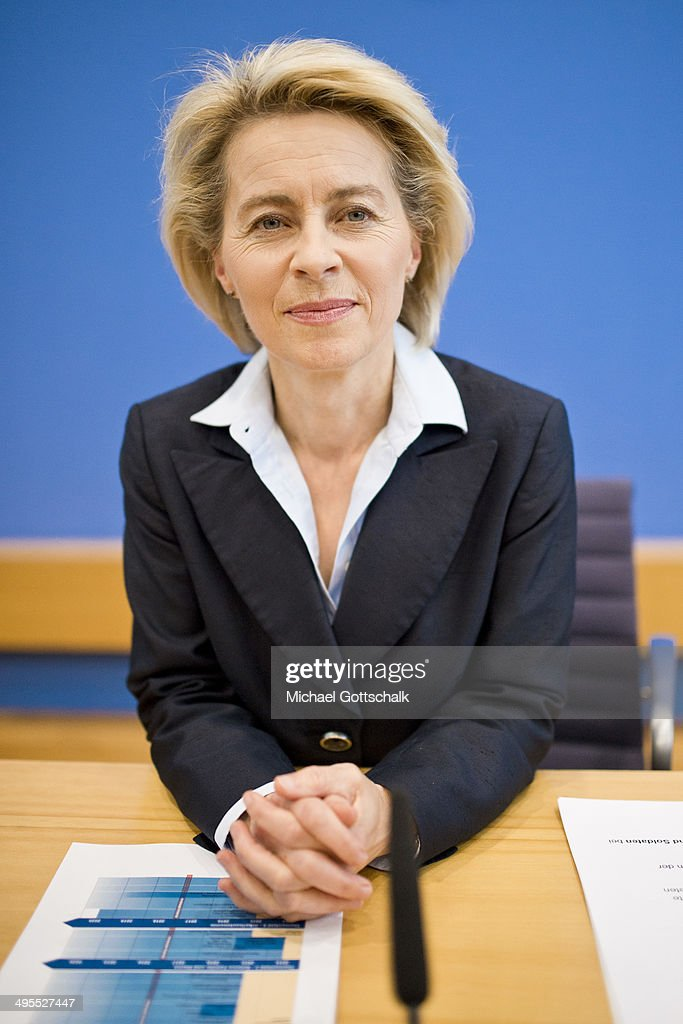 Press Conference With German Defense Minister Ursula Von Der Leyen