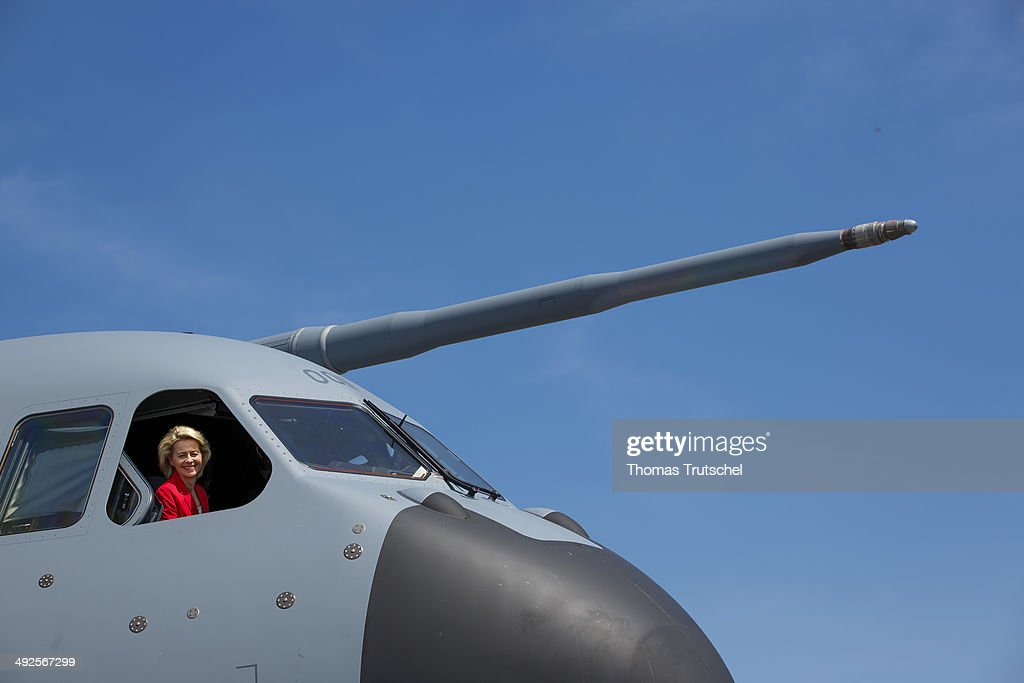 German Defense Minister Ursula Von Der Leyen Visits ILA 2014 Berlin Air Show