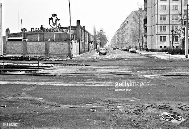 German Democratic Republic Bezirk Berlin East Berlin - meat state combine at Leninallee