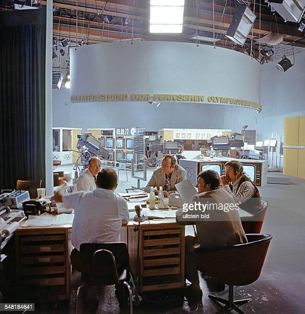 German Democratic Republic Bezirk Berlin East Berlin - Olympic television studio of DFF