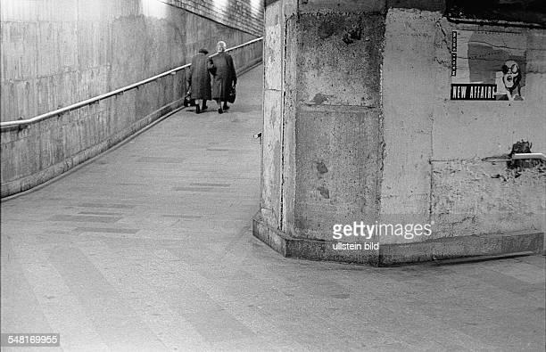 German Democratic Republic Bezirk Berlin East Berlin - pedestrians tunnel of underground railway station Lichtenberg