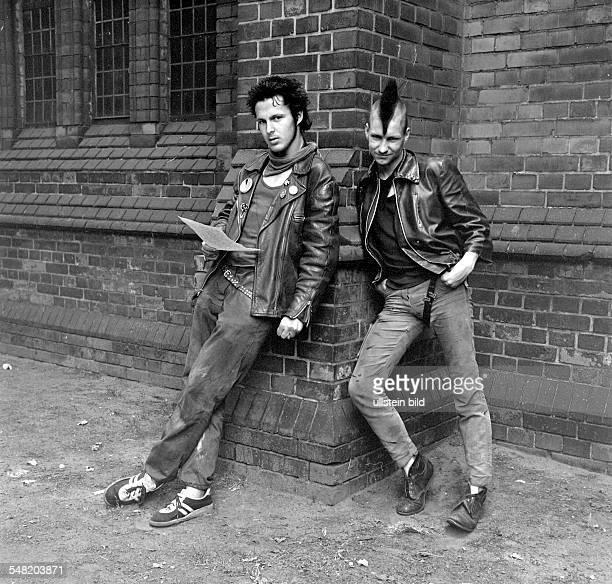 German Democratic Republic Bezirk Berlin East Berlin - punks - 1983