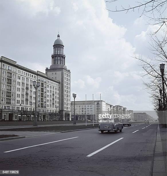 "German Democratic Republic Bezirk Berlin East Berlin - The avenue ""Stalinallee"" . - about 1961"