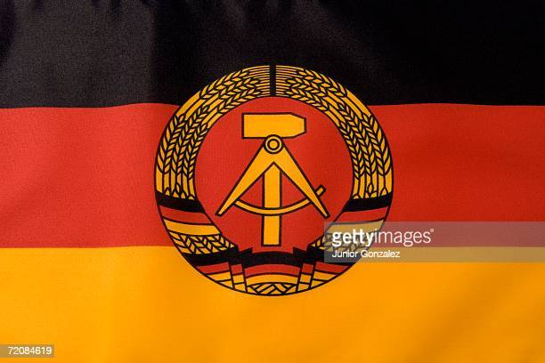 german democratic republic flag - east germany stock pictures, royalty-free photos & images