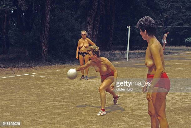 German Democratic Republic nudist beach and camping groung at Motzener Lake