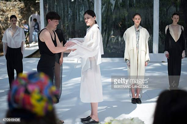 German designer Christina Braun present her creations worn by models during the 30th edition of the International Festival of Fashion and Photography...