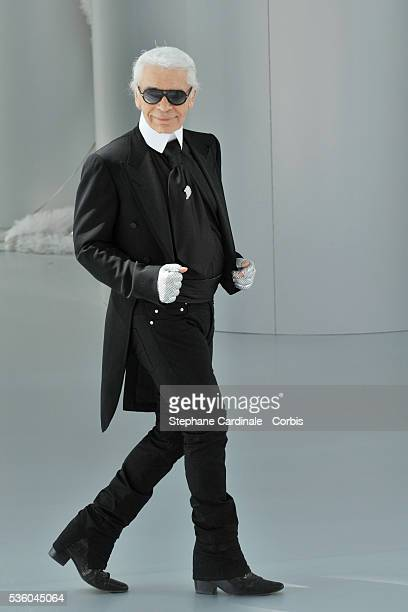 German designer Karl Lagerfeld attends the Chanel Haute Couture Fall/Winter 2008/2009 fashion show at Paris Fashion Week