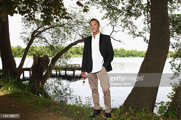 German Designer Wolfgang Joop poses for a portrait at Villa Wunderkind on May 10 2012 in Potsdam Germany