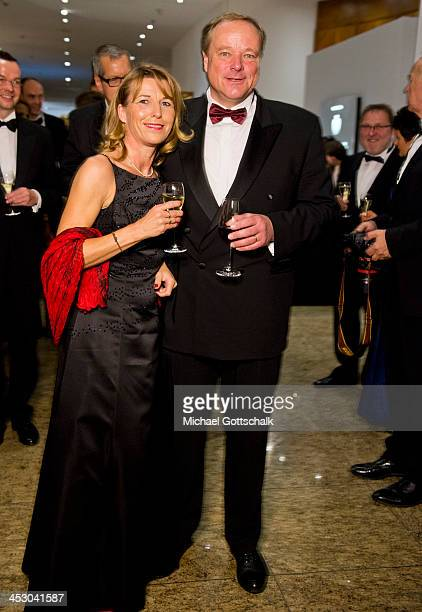German Development Minister Dirk Niebel and his wife Andrea attending the 2013 Bundespresseball on November 29 2013 at the Intercontinental Hotel in...