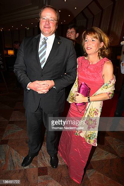 German Development Minister Dirk Niebel and his wife Andrea Niebel attend the FDP evening ball ahead of the Epiphany meeting of the party the next...