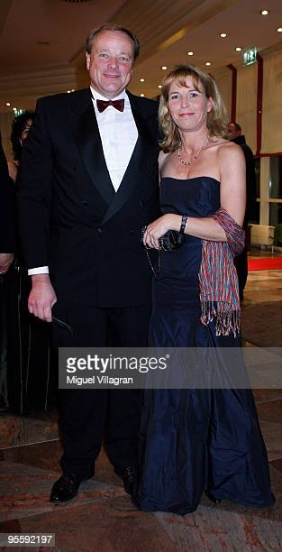German Development Minister Dirk Niebel and his wife Andrea Niebel attend the Ephiphany ball at Maritim Hotel on January 5 2010 in Stuttgart Germany...