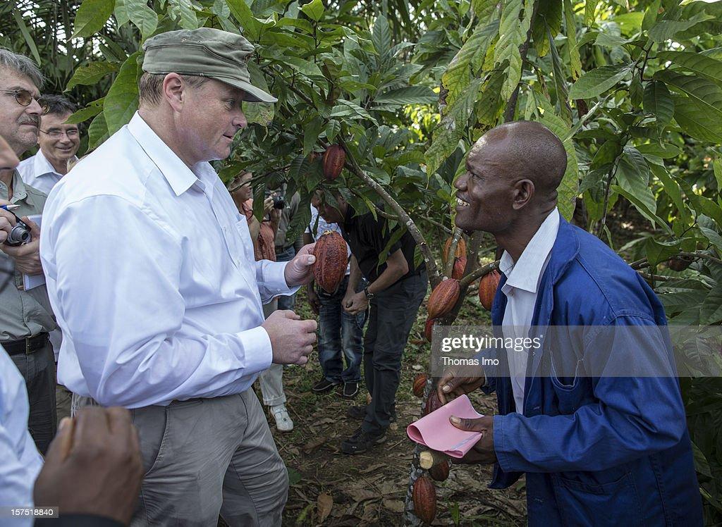 Dirk Niebel in Cameroon : News Photo