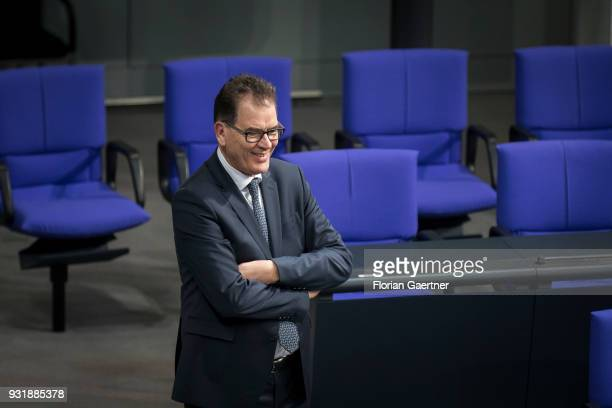 German Development Minister Gerd Mueller is pictured before the swearingin ceremony of the new federal government on March 14 2018 in Berlin Germany...