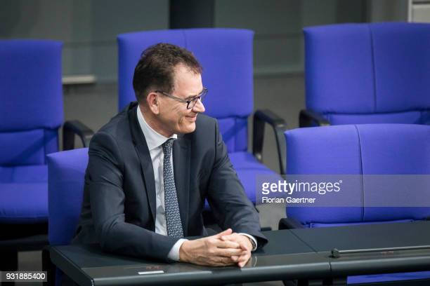 German Development Minister Gerd Mueller is pictured during the swearingin ceremony of the new federal government on March 14 2018 in Berlin Germany...