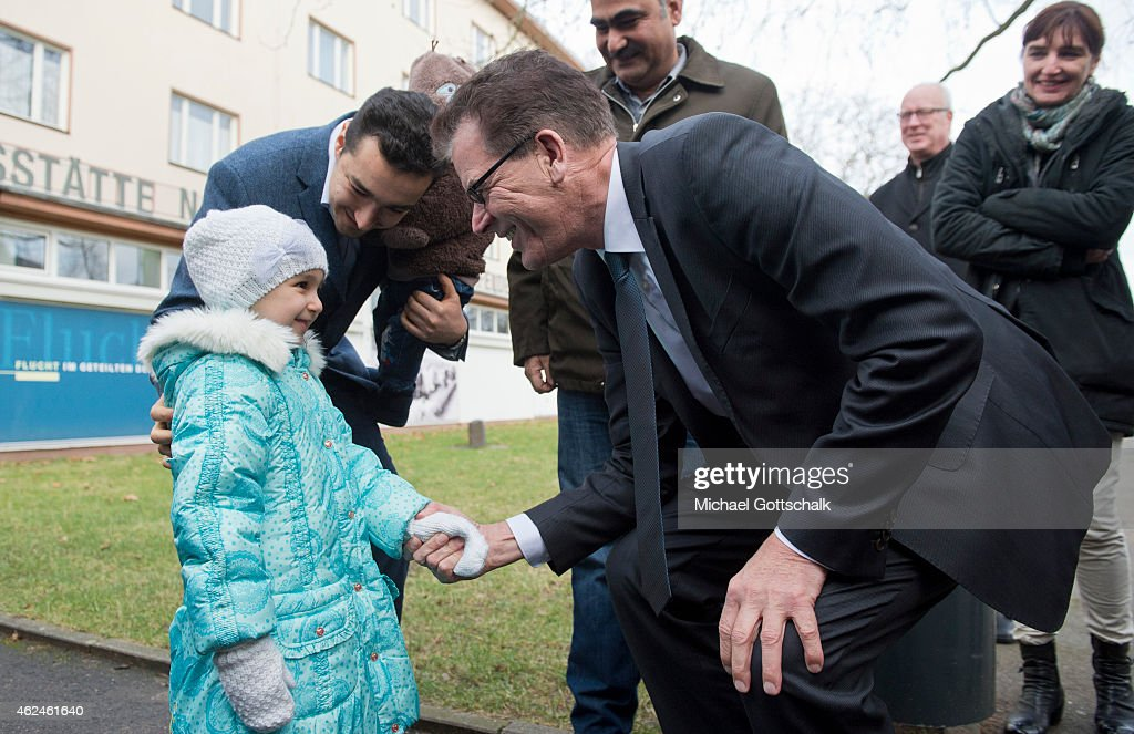 German Development Minister Visits Initial Reception Camp Marienfelde