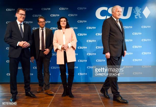 German Development Minister Gerd Mueller the Christian Social Union 's secretary general Andreas Scheuer CSU parliamentary state secretary Dorothee...