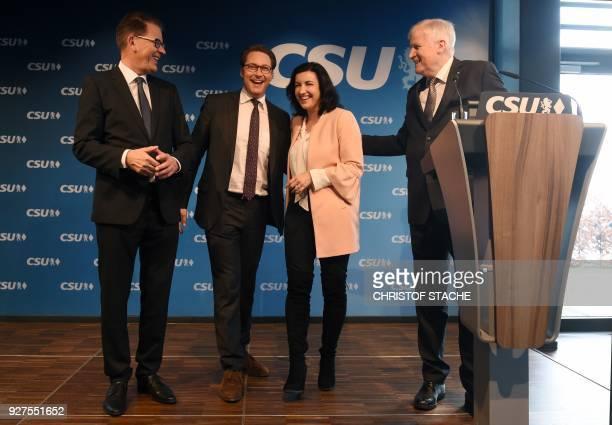German Development Minister Gerd Mueller the Christian Social Union 's secretary general Andreas Scheuer and CSU parliamentary state secretary...
