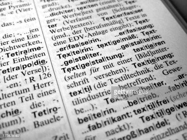 german dictionary text