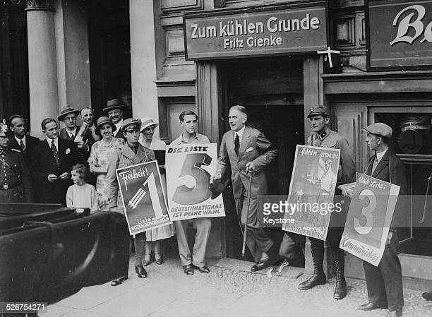 German diplomat Franz von Papen leaving a polling station after voting in Berlin August 1st 1932