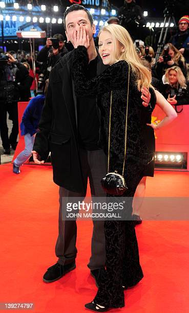 German director Christian Petzold and German actress Susanne Bormann pose upon arrival at the Berlinale Palast for the awards ceremony of the 62nd...