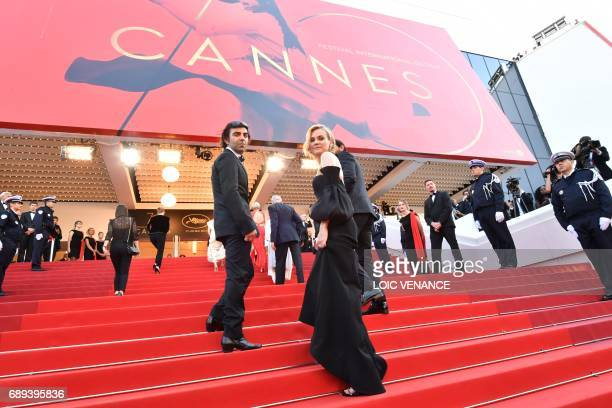 TOPSHOT German director Fatih Akin and German actress Diane Kruger arrive on May 28 2017 for the closing ceremony of the 70th edition of the Cannes...