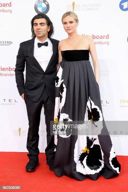 German director Fatih Akin and german actress Diane Kruger attend the Lola - German Film Award red carpet at Messe Berlin on April 27, 2018 in...
