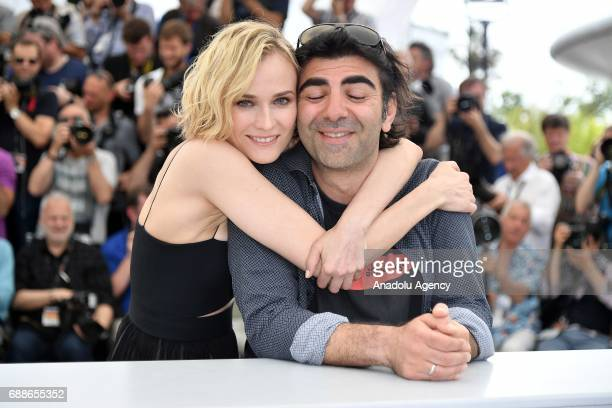 German director Fatih Akin and German actress Diane Kruger pose during a photocall for the film Aus dem Nichts in the competition at the 70th annual...