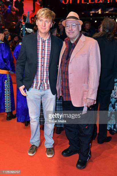 German director Rosa von Praunheim and his boyfriend Oliver Sechting arrive for the closing ceremony of the 69th Berlinale International Film...