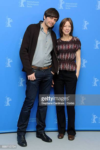 German director Ulrich Koehler and German actress Jenny Schily attend the 'Schlafkrankheit' Photocall during the 61st Berlin Film Festival