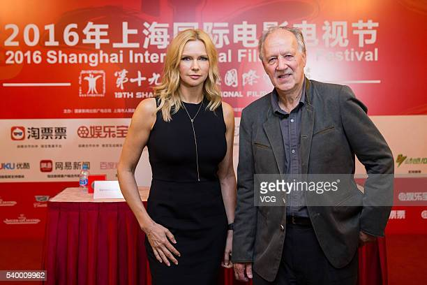 German director Werner Herzog and actress Veronica Ferres attend a press conference for new movie 'Salt and Fire' during the 19th Shanghai...