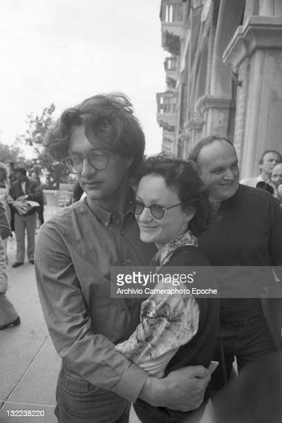 German director Wim Wenders with Isabelle Weingarten in Venice fot the Movie festival Lido Venice 1982