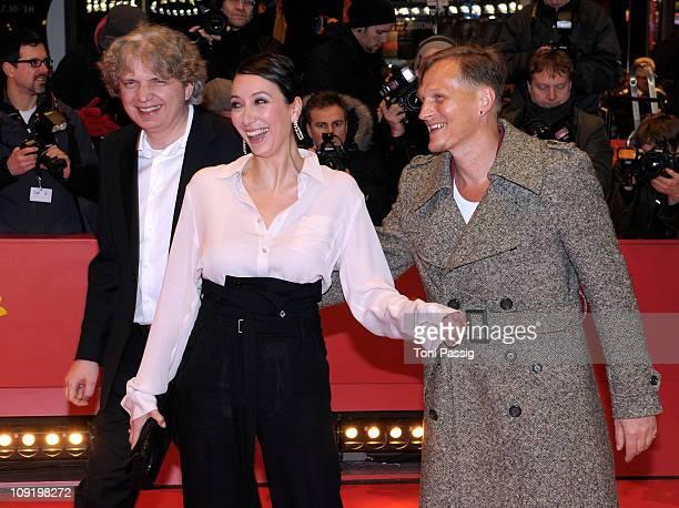 German director Wolfgang Murnberger, German actress Ursula Strauss and Austrian actor Georg Friedrich attend the 'Mein Bester Feind' Premiere during...