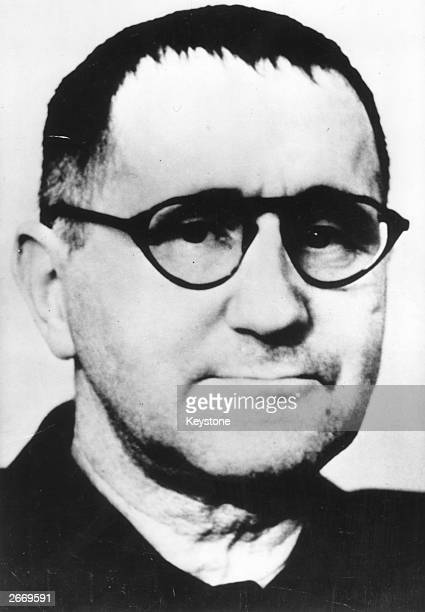 German dramatist director and poet Bertolt Brecht whose style and use of alienation techniques continues to influence work today