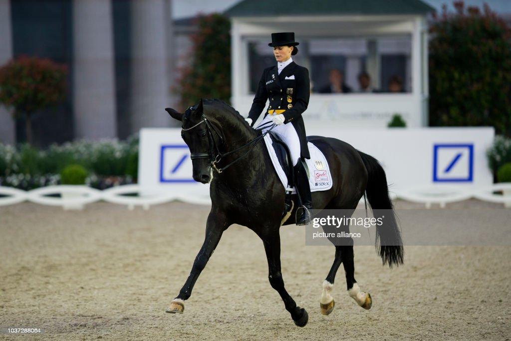 German Dressage Rider Kristina Sprehe Rides Her Horse Desperados In News Photo Getty Images