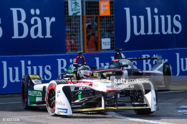 German driver Daniel Abt of AudiSport runs during the 1st Zurich EPrix