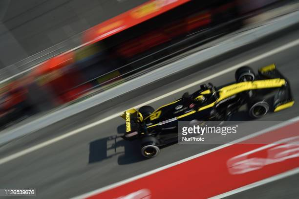 German driver Nico Hulkenberg of French team Renault F1 Team driving his singleseater RS19 during Barcelona winter test in Catalunya Circuit in...