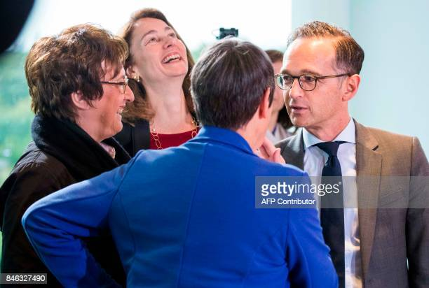 German Economy and Energy Minister Brigitte Zypries German Family Minister Katarina Barley German Environment Minister Barbara Hendricks and German...