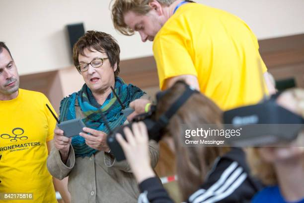 German Economy and Energy Minister Brigitte Zypries is seen at the Dronemasters 2017 convention on September 3 2017 in Berlin Germany The annual...
