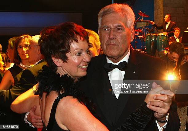 German Economy Minister Michael Glos dances with his wife Ilse Glos at the 2009 Sports Gala ' Ball des Sports ' at the RheinMain Hall on February 7...