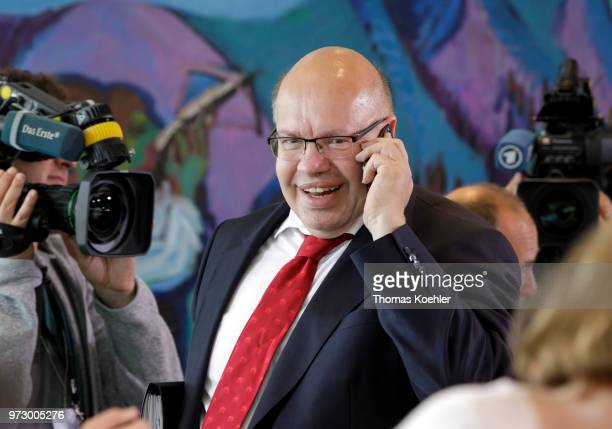 German Economy Minister Peter Altmaier arrives for the Weekly Government Cabinet Meeting on June 13 2018 in Berlin Germany