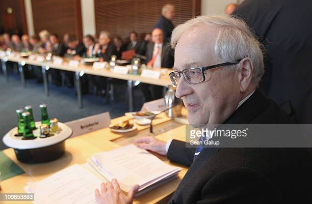 German Economy Minister Rainer Bruederle arrives for a summit between government ministers and representatives of oil companies at the Ministry of...