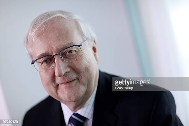 German Economy Minister Rainer Bruederle attends the weekly German government cabinet meeting at the Chancellery on February 24, 2010 in Berlin,...
