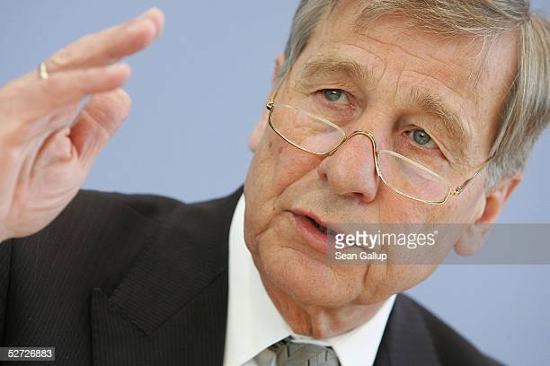 German Economy Minister Wolfgang Clement speaks to the media after the Federal Labour Bureau annonced that unemployment in Germany had fallen to...