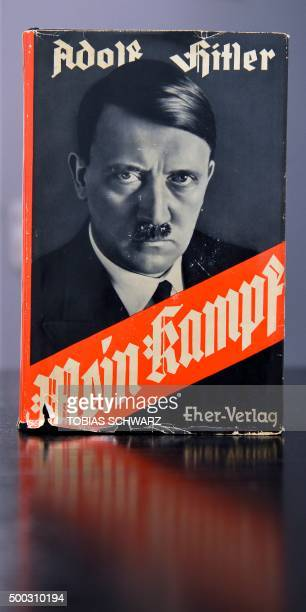 A German edition of Adolf Hitler's Mein Kampf is pictured at the Berlin Central and Regional Library in Berlin on December 7 2015 For the first time...