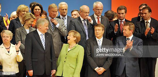German Education and Research minister Annette Schavan Bavarian Premier Horst Seehofer German Chancellor Angela Merkel CDU General Secretary Ronald...